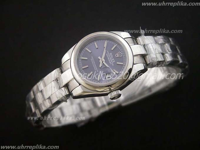 rolex president DateJust blaues damen 26mm
