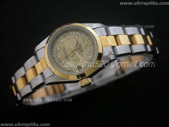 rolex replica Datejust damen 26mm Cremefarbenes Zifferblatt Diamanten