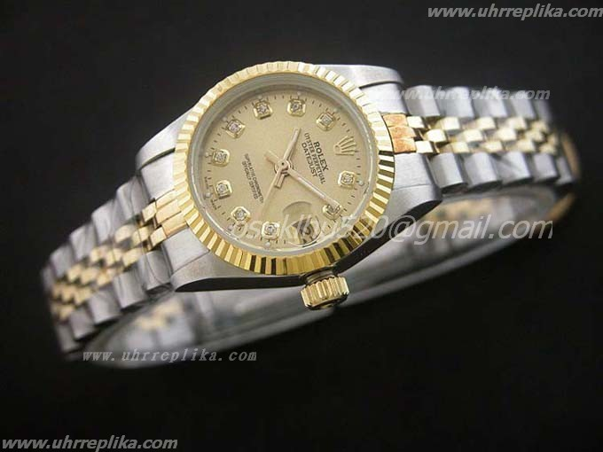 Rolex Datejust fake damen 26mm yellow GOLD Diamanten