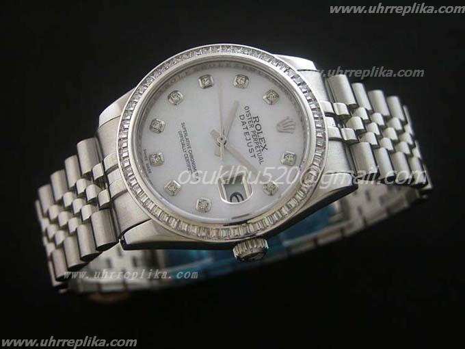 Fakes Weiß Rolex Datejust Diamanten PkOZiuXT