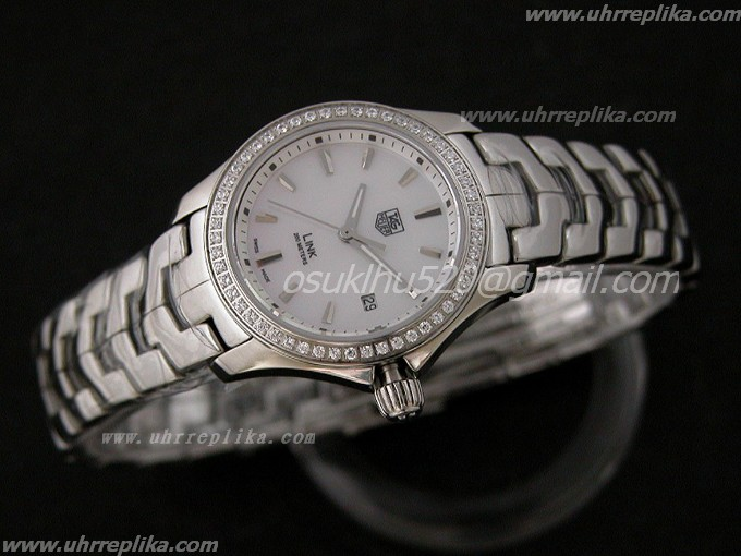 tag heuer imitate Ladies Link Jewellery Uhren Weiss