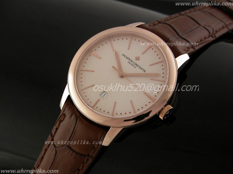 vacheron constantin patrimony replica Automatique Gold Weiss