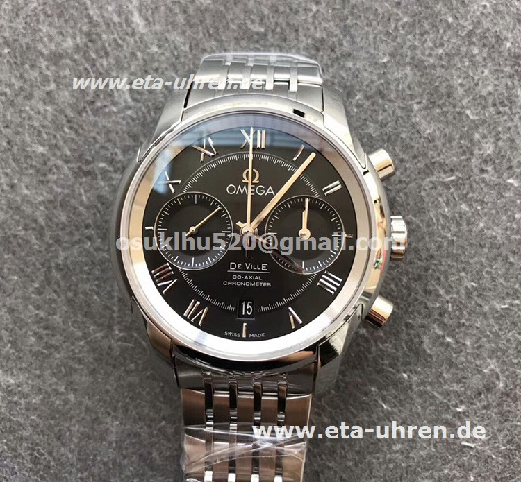 omega replica watches devil Schwarze Lederarmband Eta